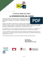 Carpeta de Prensa Festival Del Humor