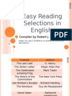 Easy Reading Selections in English