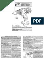 Milwaukee 18v Hammer-Drill Manual