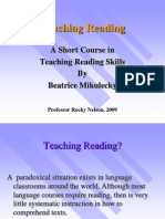 A Short Course in Teaching Reading Skills by Beatrice Mikulecky (Summary)