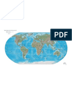 world physical map 2005
