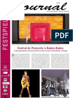 Le Journal du Festpielhaus de Baden-Baden, Vol 1