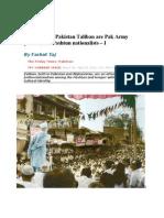 Afghanistan-Pakistan Taliban Are Pak Army Proxies, Not Pashtun Nationalists Farhat Taj