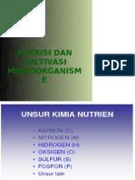 Nutrisi Dan Kultivasi Mikroba