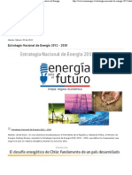 Estrategia Nacional de Energía 2012 - 2030 - Ministerio de Energía