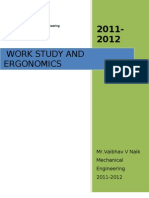 WORK STUDY (WORK MEASUREMENT & METHOD STUDY ) of  PRODUCTION TECHNOLOGY