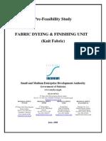 SMEDA Fabric Dyeing & Finishing Unit (Knit Fabric)