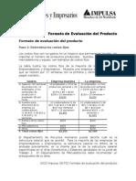 Formato de Evaluacion Del Producto