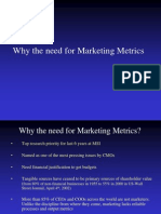 Why the Need for Marketing Metrics
