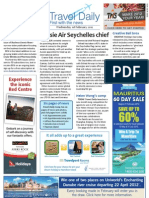 Travel Daily for Wed 01 Feb 2012 - Air Seychelles, oneworld, Wotif, Tiger, Cebu Pacific, Fiji, traffic and much more