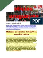 Noticias Uruguayas Viernes 1 de Junio Del 2012