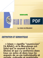Islam Et Developpement La Vision de Mozdahir