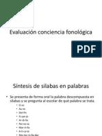 Evaluación conciencia fonológica