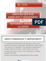 Applying QFD for Emergency Department