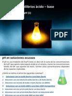 Equilibrios ácido – base Medición del pH  Curso de química básica Sesion (24)