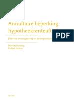 EIB ire Beperking Hypotheekrenteaftrek