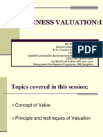Session I-business Valuation