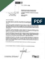 Réponse de Madame la Directrice Générale au sujet des travaux à la PSA Chemin Vert