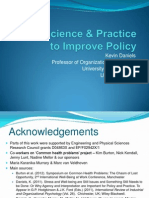 K. Daniels Using Science and Practice to Improve Policy