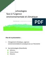 Les éco-technologies face à l'urgence environnementale et climatique (FlorentBarnabe2008)