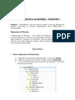 II - REVISÃO PRATICA DA MATÉRIA WINDOWS 7