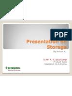 Storage PPT in Redington Pvt