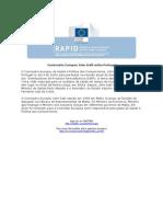 Comissário Europeu John Dalli visita Portugal