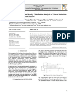 Eddy Current and Flux Density Distribution Analysis