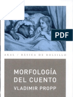 Morfología del cuento, de Propp