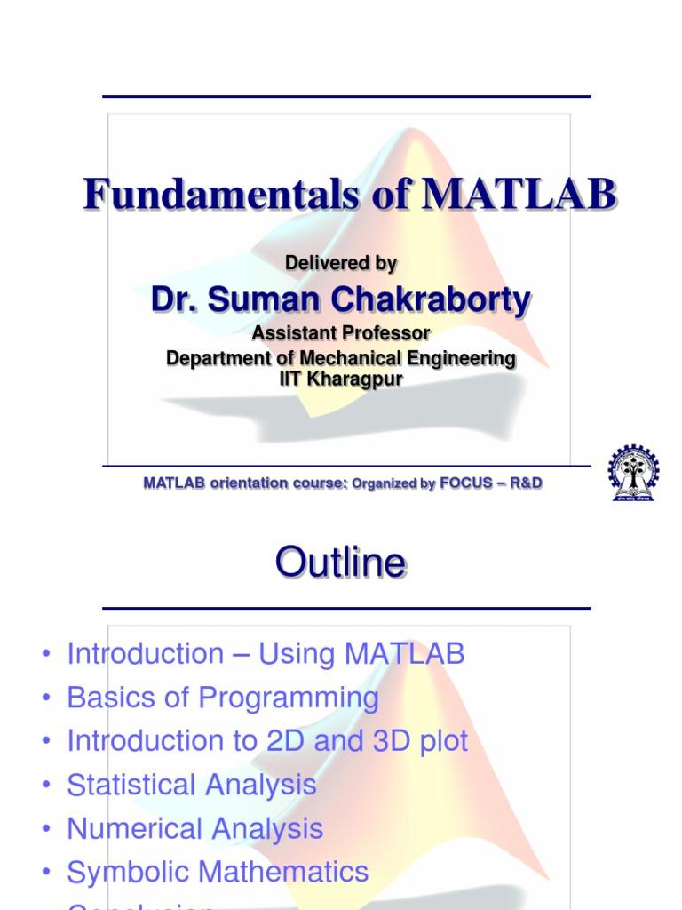Fundamentals of Matlab Final   Matlab (30 views)