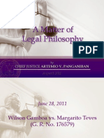 A Matter of Legal Philosophy