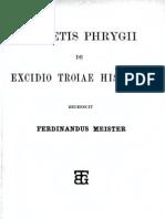 Dares Phrygius (ed. Meister, 1873)