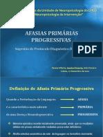 Afasias Primárias Progressivas - Sugestao de Protocolo Diferencial