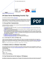 20 Linux Server Hardening Security Tips