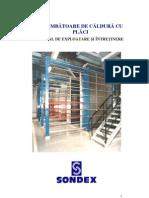 Schimbator de Caldura in Placi Manual de Instalare SCP Sondex