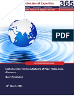 SMEToolKit Query Resolution Paper Plate Manufacturing Sudha