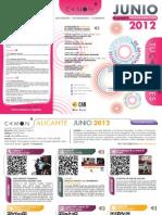 CAMON Alicante. Programación de junio de 2012. Obra Social. CAM