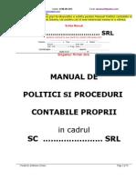 Model Manual Politici Contabile