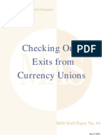 Exits From Currency Unions