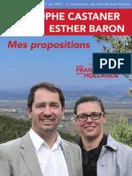 Propositions Castaner - Legislatives 2012