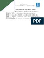 Bibliografia a Para a Prova Escrita