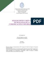 ADOLESCENTES Y NUEVAS TECNOLOGÍAS DE LA COMUNICACIÓN E INFORMACIÓN