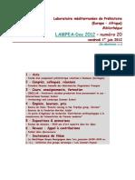 LAMPEA-Doc 2012 – numéro 20 / vendredi 1er juin 2012