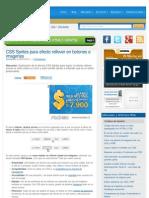 CSS Sprites Para Efecto Rollover en Botones e Imagenes __ CSS