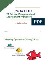 200701 Sudhendu Das IT Service Management and Improvement Framework