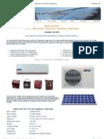 DC Air Conditioner 12 Volt 24 volt 48 Volt DC Air Conditioners DC Solar Air Conditioning