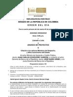 Plenaria Senado - Orden del día - 5 de junio de 2012