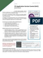 Datasheet VTS / VTScada 10.1 - Application Version Control (AVC)
