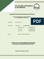 Ratio Analysis of PIA