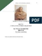 Cicerón - Bruto o de los ilustres oradores (español+latin)